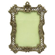 Antique High Quality French Bronze Picture Photo Frame