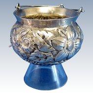 Antique TEA STRAINER, Large Floral Design, Tea Strainer, Unique