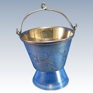 Vintage Russian Bucket Shaped Tea Strainer Tea Bucket, Strainer