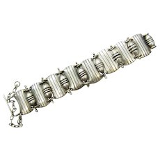 Hector Aguilar Bowling Pins Vintage Mexican Silver Bracelet