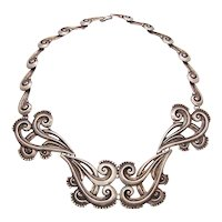 Margot de Taxco # 5161 Vintage Mexican Silver Necklace