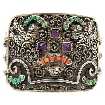 Matl Matilde Poulat Mexican Silver Large Palomas Bracelet
