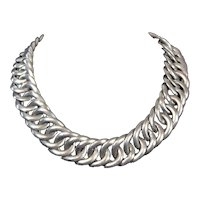 William Spratling Vintage Mexican Silver Huge Chain Necklace