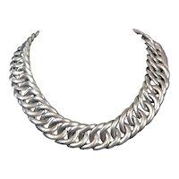William Spratling Vintage Mexican Silver Huge Chain Necklace