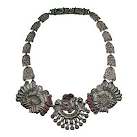 Matl Matilde Poulat Turkey Vintage Mexican Silver Necklace