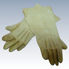 4-1/4 In. Original Soft Leather Doll Gloves, Topstitching