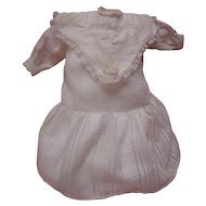 Lovely Vintage Drop Waist Cotton Dress for Antique 17-19 In. Doll