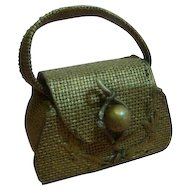 Vintage Doll Purse with Handle for French Fashion or Other