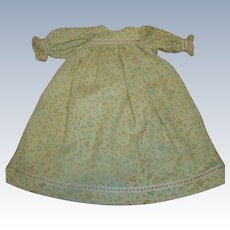 Vintage Cotton Doll Dress for German Bisque Dolls