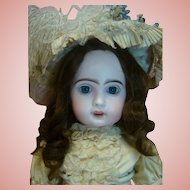 24 In. French Bisque Open Mouth Tete Jumeau Size 10