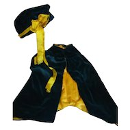 Smashing Antique Cape and Hat for a Lucky 21-23 In. Doll
