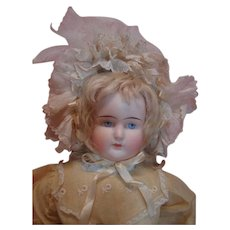 Large Antique German Bisque Shoulder Head Fashion by ABG