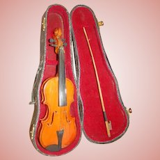 Antique Salesman Sample Violin in Original Wood Case