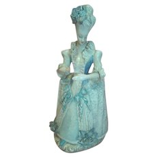French Corday Porcelain Figurine Lady in Blue