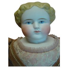 18-1/2 In. Beautiful Bisque Shoulder Head Doll, cir: 1880