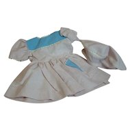 Cute Pink and Blue Waffle Pique Dress, Matching Tam for Compo or Hard Plastic