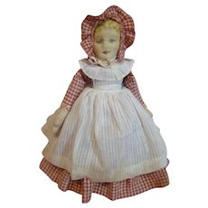 Beautiful Original Bruckner Rag Doll Topsy Turvy Mask Face, Clean and Bright Facial Features, Tagged Clothing - Red Tag Sale Item