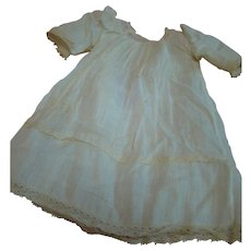 "Antique Factory Lace Trimmed ""Cheesecloth"" Chemise for a German Child Doll Approximately 16-17 In."