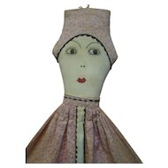 35 In. Head to Toe Cloth Bed Doll / Pajama Bag with Provenance, Dated 1935, Wonderful Black Memorabilia