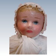 Sweet 23-1/2 In. Stockinette Chase Baby, Beautifully Vintage Dressed, Excellent with No Repaint or Repairs, Fine Example