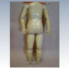 18 Inch Antique German 15-pc. Jointed Composition Child Body, Circa: 1890
