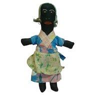 11.5 Inch Original Black Folk Art Doll, Circa 1920's or 30's