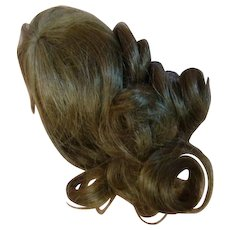 Nice Human Hair Wig for a Smaller Doll with Head Circumference Approximately 7-8 in. ; Long Curls, Bangs