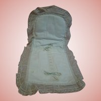 Original Cotton Pique Antique Baby Doll Saque Sleeper for Nursing Bru or Other Infant Dolls
