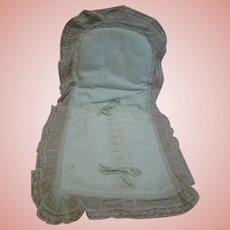 Original Cotton Pique Antique Baby Doll Saque Sleeper for Nursing Bru or Other Infant Dolls