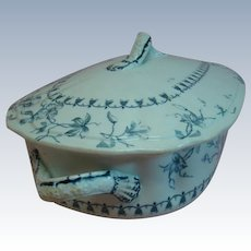 Beautiful Covered Dish with Handles Royal Semi Porcelain Wedgwood & Co. England
