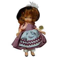 "5 In. NASB Nancy Ann Storybook Doll #131 "" Elsie Marley "" Original, Complete with Gold Wrist Tag, 1943-47, Beautiful and Complete"
