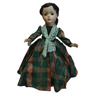 "14 In. Hard Plastic "" Marme "" Madame Alexander Little Women Series, 1950's All Original, Mint Condition with Hang Tag and Tagged Dress"