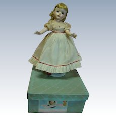 """14 In. Hard Plastic """" Amy """" Madame Alexander Little Women Series, 1950's All Original, Mint in Box and Tagged Dress"""