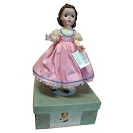 "14 In. Hard Plastic "" Beth "" Madame Alexander Little Women Series, 1950's All Original, Mint in Box and Tagged Dress"