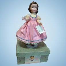 """14 In. Hard Plastic """" Beth """" Madame Alexander Little Women Series, 1950's All Original, Mint in Box and Tagged Dress"""