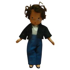 Nancy Ann Storybook Doll A Dillar-a-Dollar Boy, Original, Crisp and Never Played With, Jointed Arms