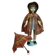 """19 In. Composition Doll, Designed by Dewees Cochran for Effanbee, """" American Child, """" 1936-39, Sleep Eyes, Human Hair Wig, Closed Mouth, Original Clothing"""