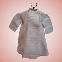Antique Off-white Ribbed Cotton Dress for a Doll Approximately 20-22 In. Tall, Either Boy or Girl