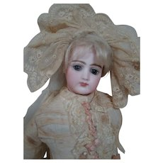 Portrait Face Jumeau Fashion Lady, Late 1860's, All Antique and Lovely Outfit, Mohair Wig, Great Body