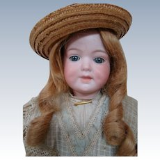 Large Antique Character #590 by Armand Marseilles, Open/Closed Mouth, Blue Sleep Eyes, Original Dress