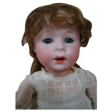 16.5 In. Tall Armand Marseilles Mold #233 Bisque Head Character Doll on Fully Jointed Child Body, Adorable!!