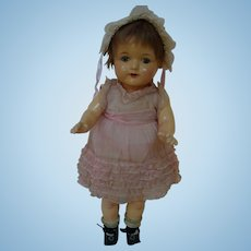 19 In. Effanbee Composition and Cloth Rosemary Doll, Original Clothes, Excellent Compo, Circa:  1925