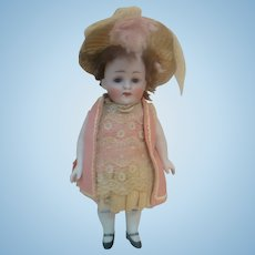 Large 9 Inch, Chunky Kestner Mold #208 All Bisque, Sleep Eyes, Awesome Child Doll