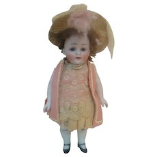 Large 9 Inch, Chunky Mold #208 All Bisque, Sleep Eyes, Awesome Child Doll, Made in Germany