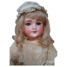 18 In. Unis France Mold #301 Bisque Head Child on Original Fully Jtd Wood/Composition Body, Very Pretty SFBJ Period Bebe