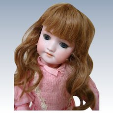 21 In. Simon & Halbig Mold #550, Bisque Head Child; Fully Jointed Composition Body; Blue Glass Sleep Eyes