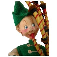 Intriguing and Colorful Bagpipe Player Klumpe Character, Made in Spain, Complete