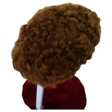Old Mohair Skin Wig for a German Bisque Head Doll with 12-13 Inch Head Circumference