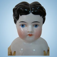 19 Inch 1880's - 1890's China Shoulder Head Doll with Exposed Ears