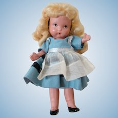 5 In. Original Bisque NASB Doll, Jointed Arms & Legs, Molded Bangs and Socks, Ca: 1938-39